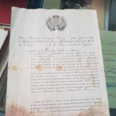 Militaria: DOCUMENTO MILITAR VALERA ASENSIO AGUILAS MURCIA CAJA RECLUTAS LORCA 1899. Lote 262853700