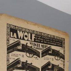 Militaria: 1935 HOJA REVISTA PUBLICIDAD ANUNCIO DE PRENSA ESCOPETAS DE CAZA MARCA 'WOLF' COMPRA A CRÉDITO. Lote 262929865