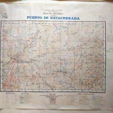 Militaria: PUERTO DE NAVACERRADA. HOJA 508 (CERCEDILLA). CARTOGRAFÍA MILITAR, SERV. GEOGRÁFICO EJÉRCITO, 1962.. Lote 262932625