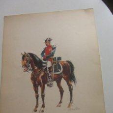 Militaria: LAMINA GUARDIA CIVIL A CABALLO - CAPITAN ( GALA ) - 1871-72 SANFELIU 34,5X2. Lote 262992435