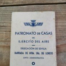 Militaria: SEVILLA, 1957, CARNET DE TRANSPORTES ESPOSA CAPITAN DE AVIACION. Lote 263236915