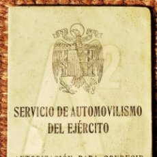 Militaria: SERVICIO DE AUTOMOVILISMO DEL EJERCITO - CARNET DE CONDUCIR - 1952. Lote 263241600