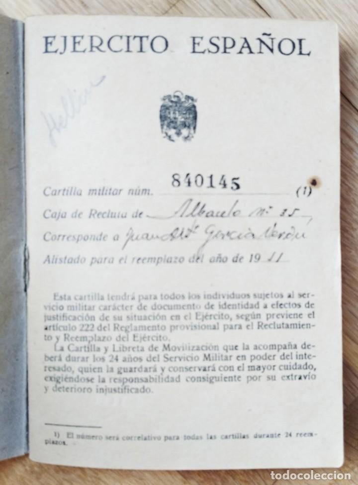 Militaria: EJERCITO ESPAÑOL - CARTILLA MILITAR - HELLIN - ALBACETE 1951 - Foto 2 - 263241865