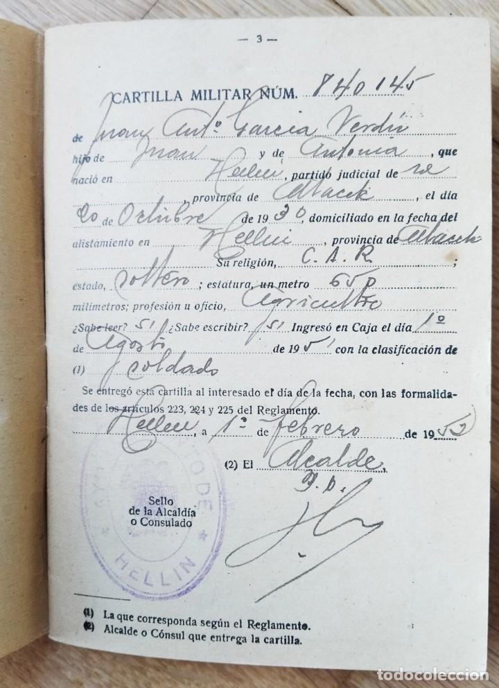 Militaria: EJERCITO ESPAÑOL - CARTILLA MILITAR - HELLIN - ALBACETE 1951 - Foto 3 - 263241865