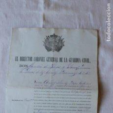 Militaria: CABO PRIMERO GUARDIA CIVIL DISTINCION DE 3 GALONES, 1884, COMANDANCIA DE MURCIA. Lote 263244375