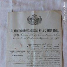 Militaria: ASCENSO A CABO 1º, 9ª COMPAÑIA DEL 5º TERCIO, DIRECTOR CORONEL MARQUES DE LA CENIA. Lote 263245830
