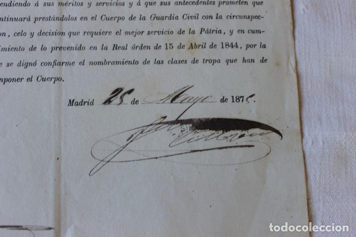Militaria: ASCENSO GUARDIA 1º A CABO SEGUNDO, 1875 DIRECTOR CORONEL MARQUES DE LA CENIA - Foto 4 - 263246485