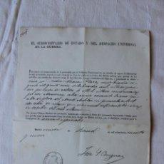 Militaria: CONCESION GUARDIA CIVIL CRUZ SENCILLA DE PLATA MERITO MILITAR 1870. Lote 263247975