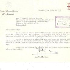 Militaria: MADRID 1959 CARTA AUTÓGRAFA MINISTRO SECRETARIO DEL MOVIMIENTO JOSÉ SOLÍS RUIZ (CABRA,CÓRDOBA 1913). Lote 263715160