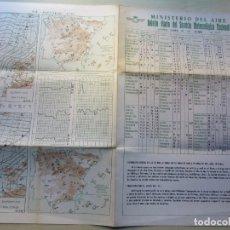 Militaria: MINISTERIO DEL AIRE BOLETÍN DIARIO DEL SERVICIO METEOROLÓGICO NACIONAL 10/11/1971. Lote 264024515