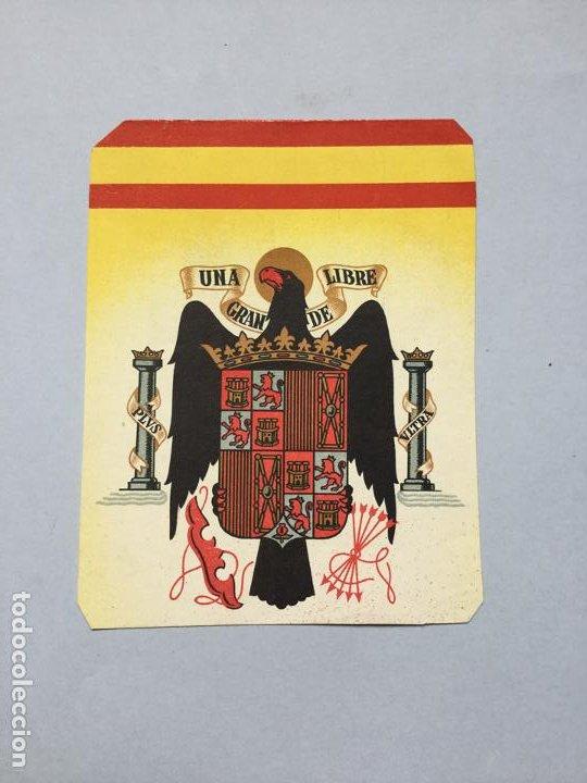 ESPAÑA - ESCUDO - UNA GRANDE Y LIBRE - 13X10,5 (Militar - Propaganda y Documentos)