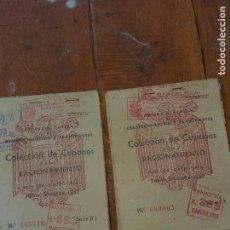 Militaria: CARTILLAS DE RACIONAMIENTO BARCELONA 1959 CON CUPONES. Lote 266253878