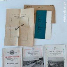 Militaria: TIRO NACIONAL MEMORIAS 1953, 1954, 1955 Y 1956 PROGRAMA ACTOS 1961. Lote 268424354