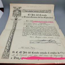 Militaria: EJERCITO DEL AIRE: ASCENSO A CAPITAN , FIRMA FRANCISCO FRANCO AÑO 1948. Lote 268768659