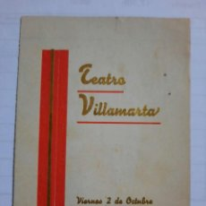 Militaria: PROGRAMA TEATRO VILLAMARTA.JEREZ DE LA FRONTERA.CADIZ1.HOMENAJE MILITAR.AL GENERAL A QUEIPO DE LLANO. Lote 269753228