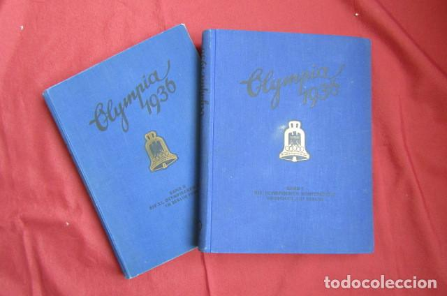 2 ANTIGUOS ÁLBUMES DE CROMOS ALEMÁN EDITADO EN EL III REICH OLIMPIADAS BERLÍN JUEGOS OLÍMPICOS 1936 (Militar - Propaganda y Documentos)