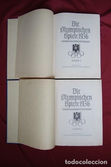 Militaria: 2 antiguos álbumes de cromos alemán editado en el III reich Olimpiadas Berlín Juegos Olímpicos 1936 - Foto 2 - 269818618
