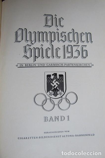 Militaria: 2 antiguos álbumes de cromos alemán editado en el III reich Olimpiadas Berlín Juegos Olímpicos 1936 - Foto 3 - 269818618