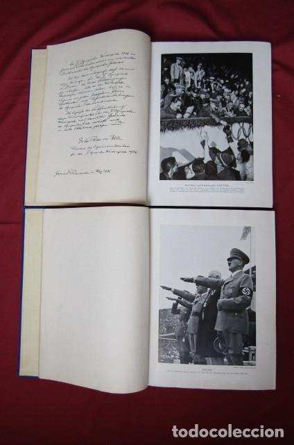 Militaria: 2 antiguos álbumes de cromos alemán editado en el III reich Olimpiadas Berlín Juegos Olímpicos 1936 - Foto 4 - 269818618