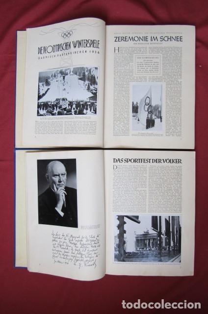 Militaria: 2 antiguos álbumes de cromos alemán editado en el III reich Olimpiadas Berlín Juegos Olímpicos 1936 - Foto 5 - 269818618