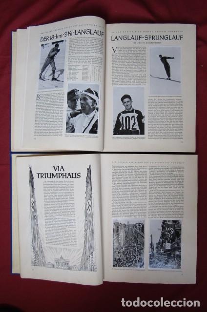 Militaria: 2 antiguos álbumes de cromos alemán editado en el III reich Olimpiadas Berlín Juegos Olímpicos 1936 - Foto 6 - 269818618