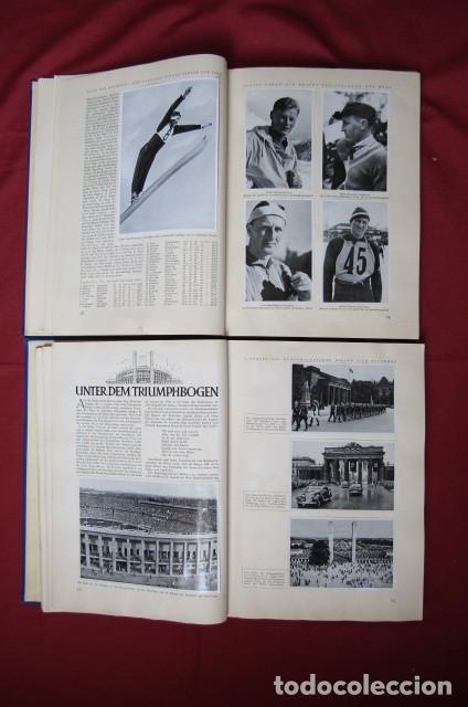 Militaria: 2 antiguos álbumes de cromos alemán editado en el III reich Olimpiadas Berlín Juegos Olímpicos 1936 - Foto 7 - 269818618