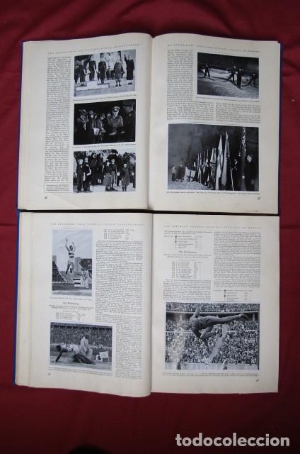 Militaria: 2 antiguos álbumes de cromos alemán editado en el III reich Olimpiadas Berlín Juegos Olímpicos 1936 - Foto 9 - 269818618