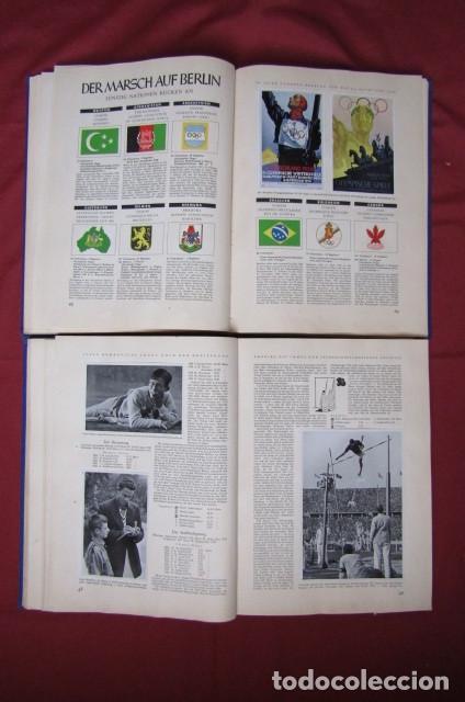 Militaria: 2 antiguos álbumes de cromos alemán editado en el III reich Olimpiadas Berlín Juegos Olímpicos 1936 - Foto 10 - 269818618