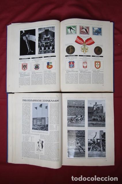 Militaria: 2 antiguos álbumes de cromos alemán editado en el III reich Olimpiadas Berlín Juegos Olímpicos 1936 - Foto 11 - 269818618