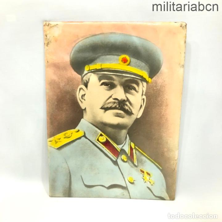 URSS UNIÓN SOVIÉTICA. RETRATO DE STALIN. AÑOS 40. 23'5 X 17'5 CM. (Militar - Propaganda y Documentos)