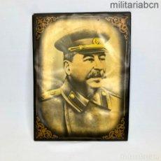 Militaria: URSS UNIÓN SOVIÉTICA. RETRATO DE STALIN PARA MESA O COLGAR. AÑOS 40. 23'5 X 17'5 CM.. Lote 269824888