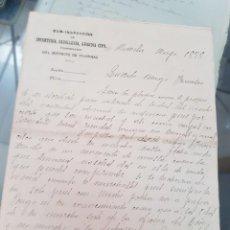 Militaria: ANTIGUA CARTA MANUSCRITA MILITAR MAYO 1898 GUERRA MANILA FILIPINAS. Lote 269844618