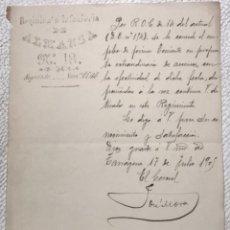 Militaria: REGIMIENTO DE INFANTERÍA ALMANSA N.13 TARRAGONA 1905.. Lote 270919948