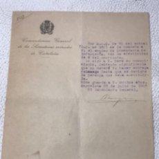 Militaria: COMANDANTE GENERAL DE LOS SOMATENES DE CATALUNYA 1925. EL COMÁNDANTE GENERAL.. Lote 270921348