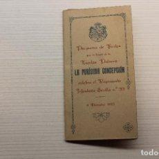 Militaria: SEVILLA, REGIMIENTO INFANTERÍA NÚM 33, CELEBRA LA PURÍSIMA CONCEPCIÓN, 1923. Lote 271408468