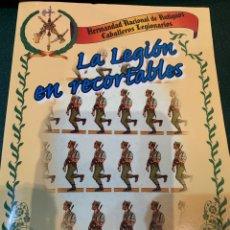 Militaria: LA LEGIÓN , CARPETA CON REPRODUCCIONES DE 38 RECORTABLES. Lote 274796393