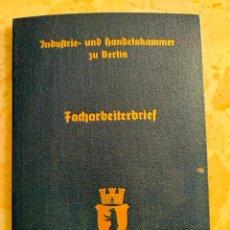 Militaria: CARNET ALEMAN INDUSTRIA Y COMERCIO DE BERLIN, EPOCA III REICH, AÑO 1939. Lote 275158143