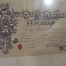 Militaria: ANTIGUA CONCESIÓN DE LA MEDALLA DE ORO DE ZARAGOZA AÑO 1919. Lote 275565613
