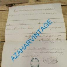 Militaria: CASTILLEJA DE LA CUESTA, 1883, JUSTIFICACION REVISTA REGIMIENTO CAZADORES ALFONSO XII,CABALLERIA. Lote 275851053