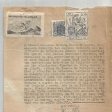 Militaria: ALCALÁ DE HENARES 1939. CERTIFICADO BUENA CONDUCTA. PRO HUÉRFANOS DEL AIRE 0.50 PTS. Lote 275919433