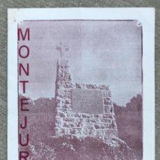 Militaria: FOLLETO PROGRAMA DE MONTEJURRA 1960 - CARLISMO - REQUETÉ - COMUNIÓN TRADICIONALISTA. Lote 276079473