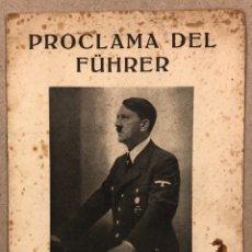 Militaria: PROCLAMA DEL FÜHRER AL PUEBLO ALEMÁN CON MOTIVO DEL AÑO NUEVO 1945.. Lote 276175048