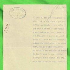 Militaria: DOCUMENTO CORONEL 21 TERCIO DE LA GUARDIA CIVIL. BARCELONA, 1930. Lote 276316673