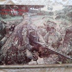 Militaria: ANTIGUO CARTEL DE INFANTERIA DE MARINA ESPAÑOLA, ORIGINAL. Lote 276525663