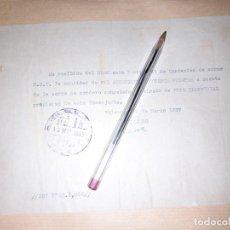 Militaria: RECIBO CONSEJERÍA DE ABASTECIMIENTOS DE VALENCIA DEL SINDICATO DE CORTANTES CARNE UGT GUERRA CIVIL. Lote 276692063