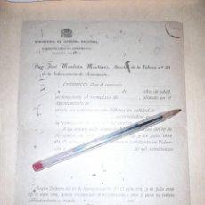 Militaria: DOCUMENTO EN BLANCO GUERRA CIVIL SUBSECRETARÍA DE ARMAMENTO FÁBRICA Nº 30 CERTIFICADO A OPERARIO. Lote 276694828