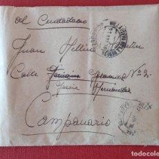 Militaria: CARTA CORRESPONDENCIA. GUERRA CIVIL 1938. CON CONTENIDO. W. Lote 277160728