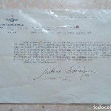 Militaria: CARTA A UN PENADO EN EL CAMPO DE TRABAJO DE ORIHUELA ALICANTE. 1938 GUERRA CIVIL. W. Lote 277163323