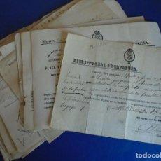 Militaria: (RE-210702)LOTE DE 21 DOCUMENTOS EJERCITO REAL DE CATALUÑA GUERRAS CARLISTAS FIRMAS OFICIALES. Lote 277602348