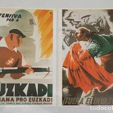 Militaria: 2 CARTELES DE LA GUERRA CIVIL ESPAÑOLA PROPAGANDA REPUBLICANA EJERCITO POPULAR. Lote 277750718